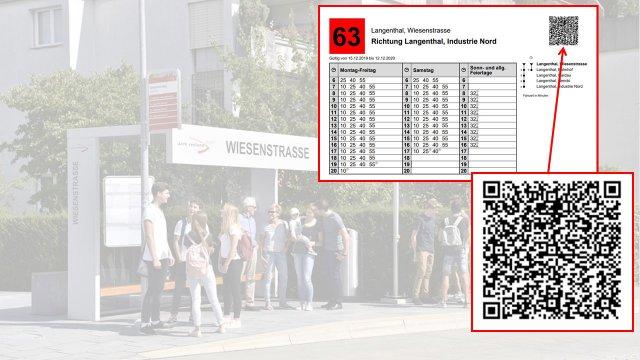 Neu: Echtzeitinformationen an Bus-Haltestellen